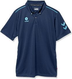 ヒュンメル 半袖ワンポイントポロシャツ HAY2101 ネイビー/ライトブルー(代引不可)