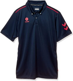 ヒュンメル 半袖ワンポイントポロシャツ HAY2101 ネイビー/S.ピンク(代引不可)