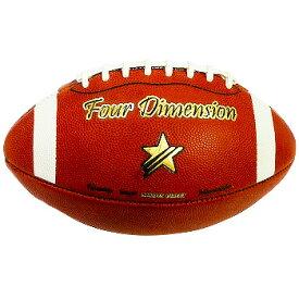 (ジュニアサイズ 本革タイプ) アメリカンフットボール Four Dimensionオリジナル アメフト ボール タッチフット ブラックフット