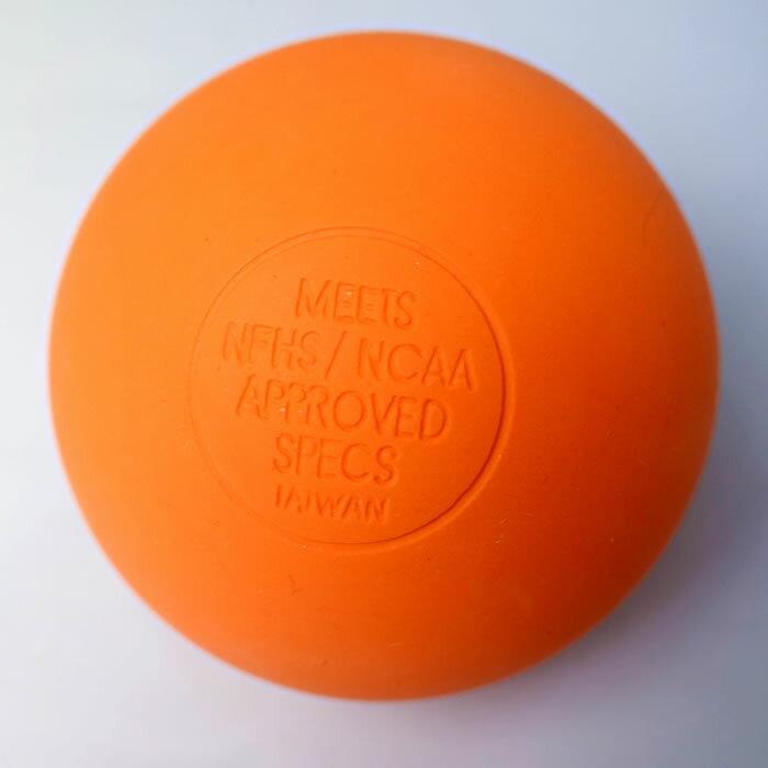 売り切りSALE [オレンジ]オリジナルラクロスボール 1個売り