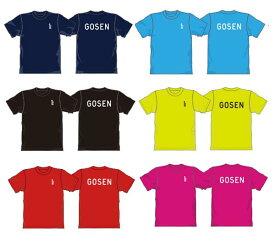 【限定】ゴーセン GOSEN ワンポイントTシャツ プラクティスシリーズ JPT01 Tシャツ半袖 ゴーセン ソフトテニス Tシャツ ゴーセン バドミントン ティーシャツ メンズ ユニセックス ジュニア140 soft tennis badminton wear