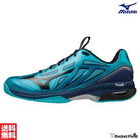 【送料無料】ミズノ ソフトテニスシューズ ウエーブエクシード 4 OC(61GB2012)2E相当 硬式テニス 軟式テニス シューズ ソフトテニス シューズ ミズノ テニスシューズ 靴 軽量 MIZUNO soft tennis shoes