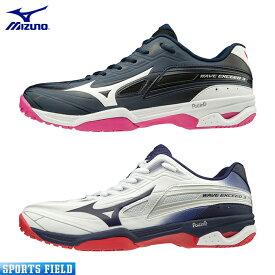 ミズノ ソフトテニスシューズ ウエーブエクシード 3 OC(61GB1912)2E相当 硬式テニス 軟式テニス シューズ ソフトテニス シューズ ミズノ テニスシューズ 靴 軽量 MIZUNO soft tennis shoes