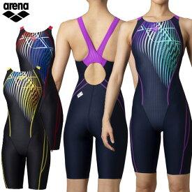 セール アリーナ arena 競泳水着 Fina承認 レディース ARN-0060W セイフリーバックスパッツ 着やストラップ アクアレーシング 着やすい 水泳 スイム