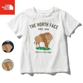 [10/25まで3点5%OFFクーポン] (在庫処分 / 120cmのみ) アウトドア ノースフェイス ジュニア Tシャツ S/S GRA ANIMAL NTJ32047 ボーイズ ガールズ 男の子 女の子
