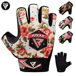 RDX トレーニング グローブ ウエイトリフティング GYMグローブF23/F24 花柄 重量挙げ 耐久性 ジム ダンベル 保護 筋トレ RDX フィットネス ワークアウト サイクリンググローブ 手袋 軍手 ブランド