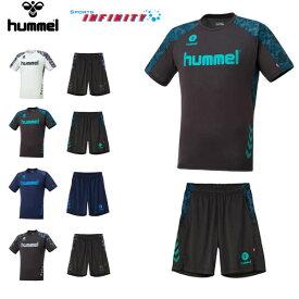hummel(ヒュンメル)! スポーツウエア 『ドライTシャツ&ドライハーフパンツ 上下組』 <HAY2083-HAP6013HP>