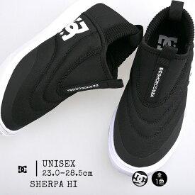 ブーツ ハイカット ディーシーシューズ レディース メンズ スニーカー SHERPA HI DM184602 スリッポン シューズ