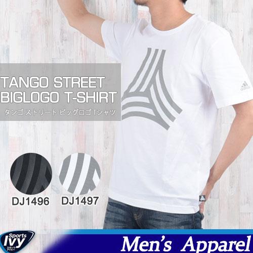 ポイント3倍!〜10/26 01:59まで【メール便】 adidas アディダス TANGO STREET ビッグロゴ Tシャツ DJ1496/DJ1497
