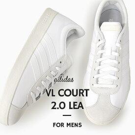 アディダス adidas スニーカー メンズ カジュアル シューズ 靴 ファッション VL COURT 2.0 LEA F34554 白
