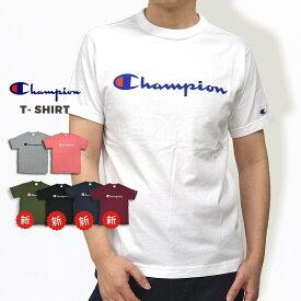 チャンピオン メンズ Tシャツ 半袖 champion Tシャツ C3-P302 黒 白 紺 緑
