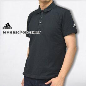 アディダス adidas ポロシャツ カジュアル トップス シャツ ロゴ M MH BSC ポロシャツ M MH BSC POLO SHIRT FM5418 FM5421 黒 白