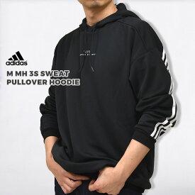 アディダス adidas カジュアル パーカートップス ロゴ アウター M MH 3S スウェット プルオーバーフーディ M MH 3S SWEAT PULLOVER HOODIE FM5321 黒