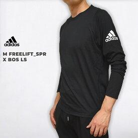 アディダス adidas メンズ ウエア トレーニング トップス カジュアル スポーツウェア ランニング 運動 M FREELIFT_SPR X BOS LS DQ2846 黒