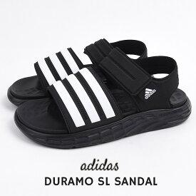 アディダス adidas サンダル レディース メンズ スポーツサンダル シューズ カジュアル ファッション DURAMO SL SANDAL FY6035 ブラック 父の日 ギフト プレゼント