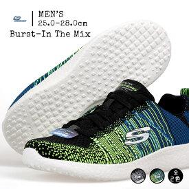 スケッチャーズ SKECHERS Burst - In The Mix 52107-BKW/BMLT