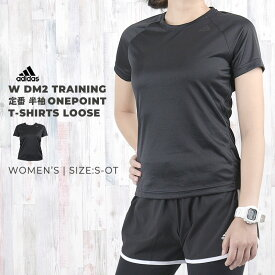 アディダス adidas レディース Tシャツ 半袖 W D2M トレーニング 定番半袖ワンポイントTシャツ ルーズ BK2707 BK2708