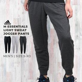 アディダス スウェット ジョガー パンツ メンズ 下 ジャージ adidas M ESSENTIALS ライトスウェット ジョガーパンツ DN1348 DN1445 DN1446 トレーニングウェア 黒 ロング