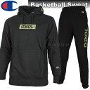 Champion チャンピオン Basketball スウェット ジャケット パンツ 上下 C3LB120 C3LB220 090 ブラック