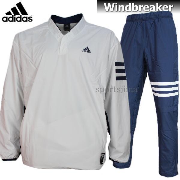 adidas アディダス Baseball 裏起毛 ウィンドブレーカー ジャケット パンツ 上下 DUU68 CD2758 DUU67 CD2762 ホワイト×ネイビー