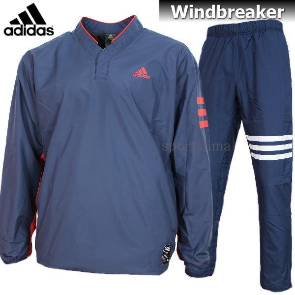 adidas アディダス Baseball 裏起毛 ウィンドブレーカー ジャケット パンツ 上下 DUU68 CD2760 DUU67 CD2762 ネイビー