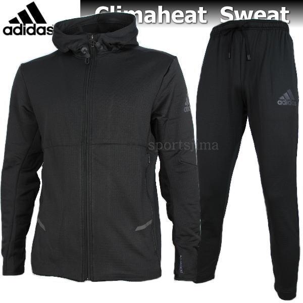 adidas アディダス Climaheat 裏起毛 あったか スウェット ジャケット パンツ 上下 EVZ13 CV5929 DJX89 BR3755 ブラック
