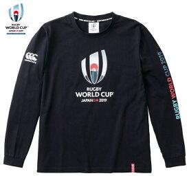 カンタベリー Tシャツ メンズ 長袖 VWD49423 29 ネイビー 日本代表 ラグビー ワールドカップ 2019(TM)オフィシャル ライセンス商品 シャツ 日本大会 CANTERBURY 公式 ブランド 人気 おすすめ ジャパン シャツ トレーニングウェア 部屋着 おしゃれ