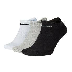 ナイキ ソックス メンズ レディース 3足組 厚手 コットン エブリデイ クッション 靴下 3P SX7673 901 マルチカラー アンクルソックス NIKE トレーニングソックス 人気 おすすめ おしゃれ ランニング