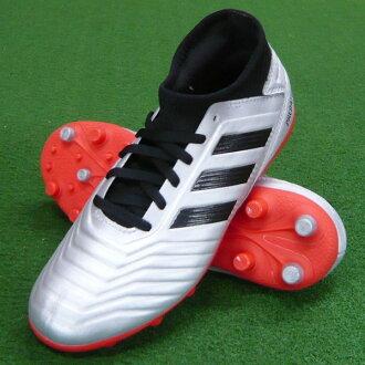 Youth predator 19.3 - Japan HG/AG J silver X black X red soccer spikes / soccer shoes