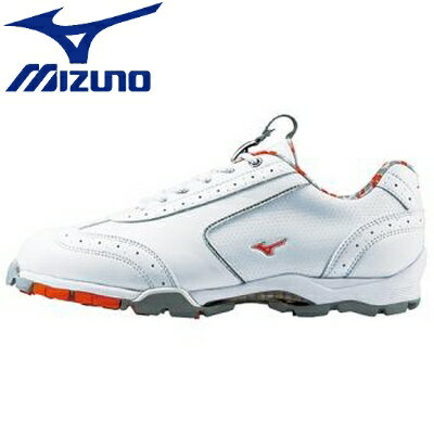 【MIZUNO-ミズノ】 ライトスタイル 040 ホワイト×オレンジ 【レディースゴルフシューズ/女性用ゴルフシューズ】◎