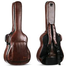 アコースティック ギターケース ギター ケース PU防水 クッション リュック型 ギグケース ギグバッグ ギターバッグ キャリーケース キャリーバッグ