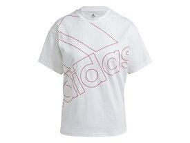 【期間限定ポイント10倍キャンペーン!】アディダス adidas Giant Logo Tee(Gender Neutral) ジャイアント ロゴ Tシャツ(ジェンダーニュートラル) レディース 春 夏 コットン 綿 ホワイト 白 スポーツ フィットネス 半袖 Tシャツ 28848-GM5573
