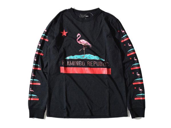 アールディーズ:【メンズ&レディース】フラミンゴロングT【ALDIES Flamingo long T 長袖Tシャツ】【あす楽_土曜営業】【あす楽_日曜営業】