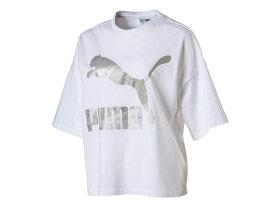 プーマ:【レディース】GLAM オーバーサイズ Tシャツ【PUMA カジュアル 半袖 シャツ】【あす楽_土曜営業】【あす楽_日曜営業】