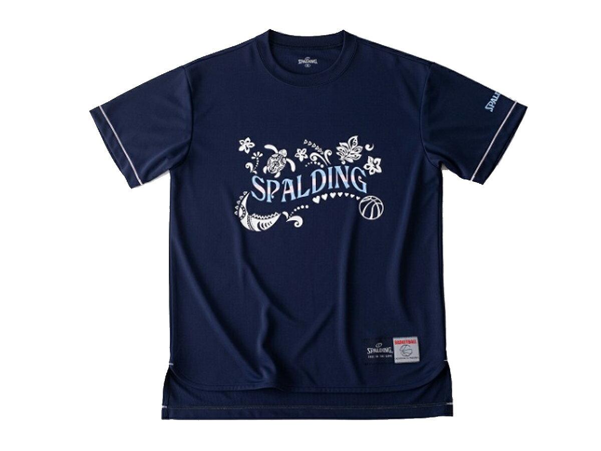 スポルディング:【レディース】Tシャツ ポリネシアン【SPALDING バスケット ウェア 半袖 Tシャツ】【あす楽_土曜営業】【あす楽_日曜営業】