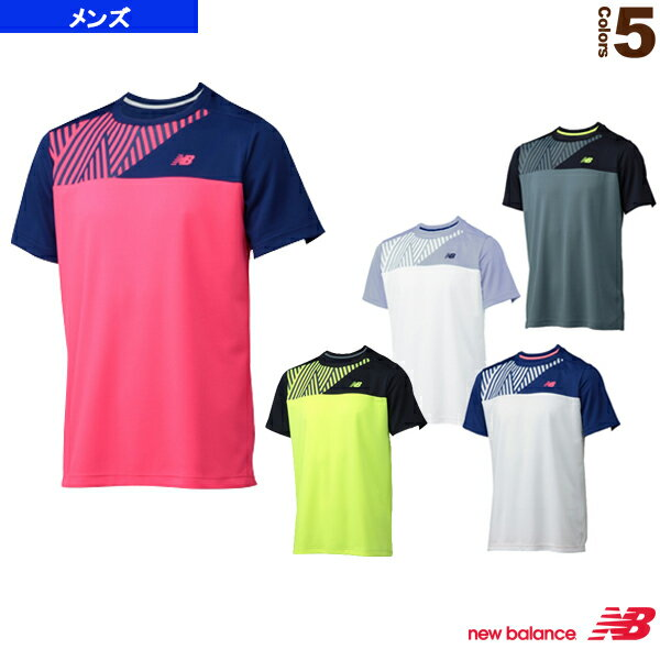 【テニス・バドミントン ウェア(メンズ/ユニ) ニューバランス】BR コンペティションカラーブロッククルー/メンズ(JMTT6674)