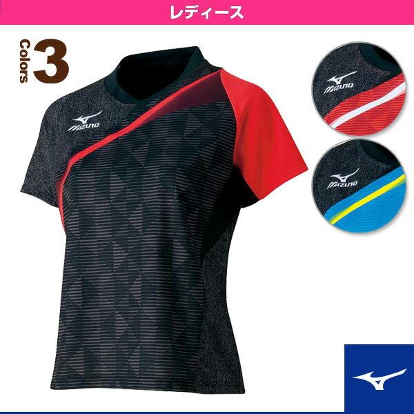 【卓球 ウェア(レディース) ミズノ】ウィメンズゲームシャツ/2016年卓球日本代表着用モデル/レディース(82JA6701)