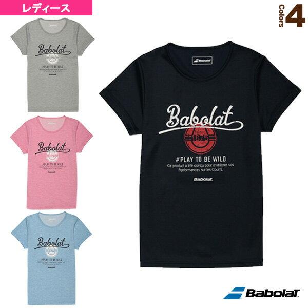【テニス・バドミントン ウェア(レディース) バボラ】Tシャツ/レディース(BAB-8735W)