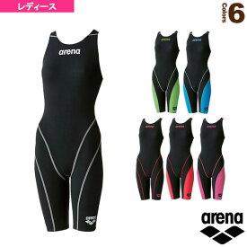 【水泳 ウェア(レディース) アリーナ】 ハーフスパッツオープンバック(クロスバック)/レーシング水着/レディース(ARN-7010W)