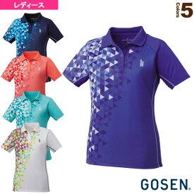 【テニス・バドミントン ウェア(レディース) ゴーセン】 ゲームシャツ/レディース(T1713)