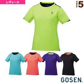 【テニス・バドミントン ウェア(レディース) ゴーセン】 ゲームシャツ/レディース(T1719)