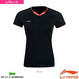 【テニス・バドミントン ウェア(レディース) リーニン】 中国ナショナルチーム ゲームシャツ/レディース(AAYN004)