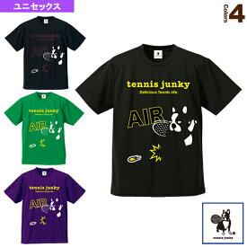 【テニス・バドミントン ウェア(メンズ/ユニ) テニスジャンキー】 Tennis Junky/エアー犬!/ドライTシャツ/ユニセックス(TJ18004)