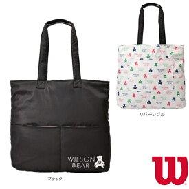 【テニス バッグ ウィルソン】 ONE BEAR TOTE/ワンベア トート/ラケット2本収納可/ブラック(WR8002001001)