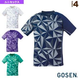 【テニス・バドミントン ウェア(メンズ/ユニ) ゴーセン】 ゲームシャツ/ユニセックス(T1930)