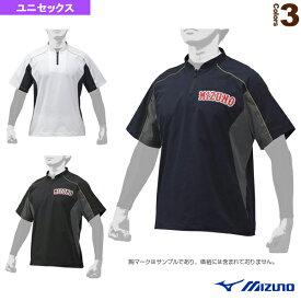 【野球 ウェア(メンズ/ユニ) ミズノ】 ミズノプロ/トレーニングジャケット/半袖(12JE9J03)