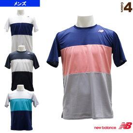 【テニス・バドミントン ウェア(メンズ/ユニ) ニューバランス】 ショートスリーブ カラーブロックゲームTシャツ/メンズ(JMTT9135)