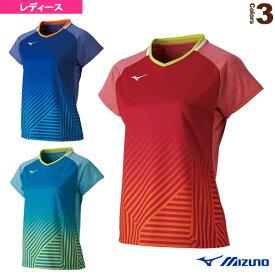 【テニス・バドミントン ウェア(レディース) ミズノ】 ゲームシャツ/レディース(72MA9202)