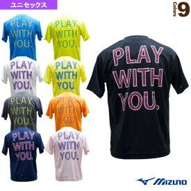 【テニス・バドミントン ウェア(メンズ/ユニ) ミズノ】 Tシャツ/PLAY WITH YOU/ユニセックス(62JA9Z12)(限定商品)
