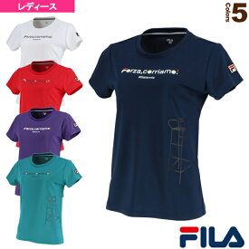 【テニス・バドミントン ウェア(レディース) フィラ】 グラフィックTシャツ/レディース(VL2045)